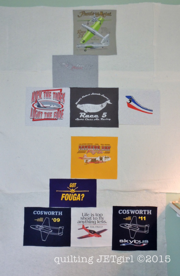 Missing Man TShirt Quilt: Reno Air Racing Formations