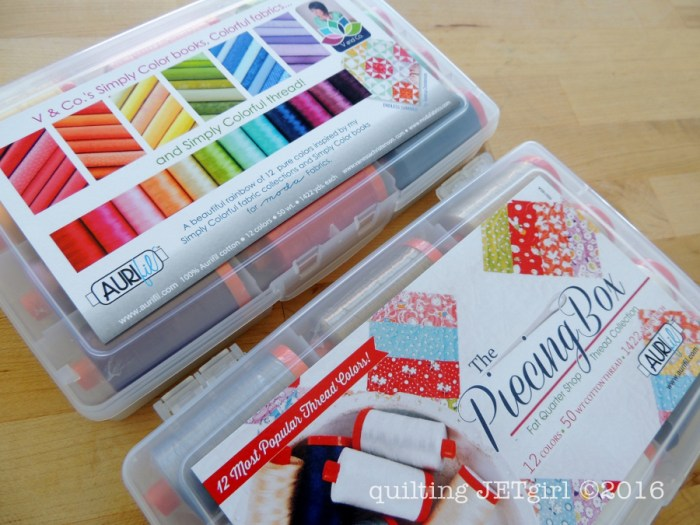 Aurifil Thread Boxes: Simply Colorful and a FQS Exclusive Piecing Box
