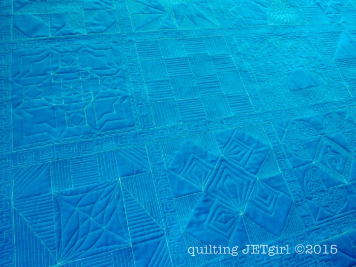 Lap Charity Quilt - Quilting Detail (Backing)