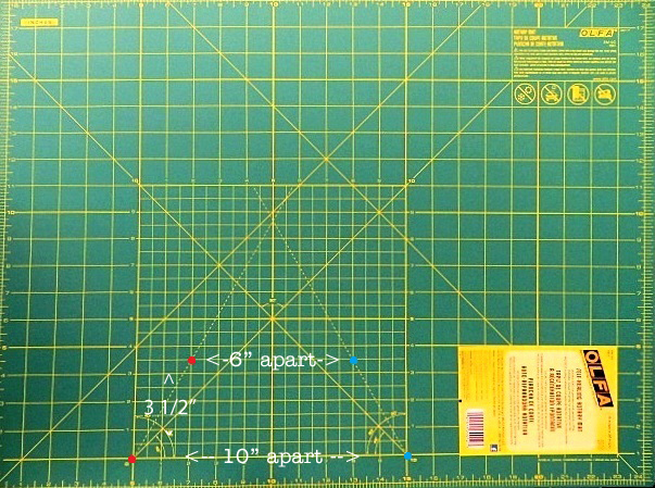Olfa Cutting Mat - 60° Line References