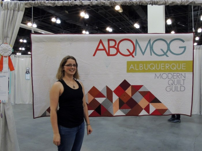 Renee at QuiltCon16 Pasadena