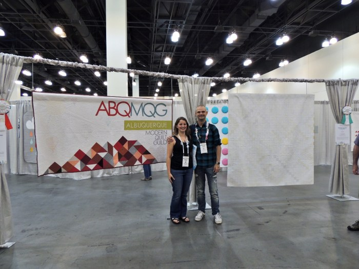 Renee and Joshua at QuiltCon16 Pasadena