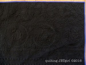 Rockabilly Baby Quilt - Quilting Texture Post-Wash