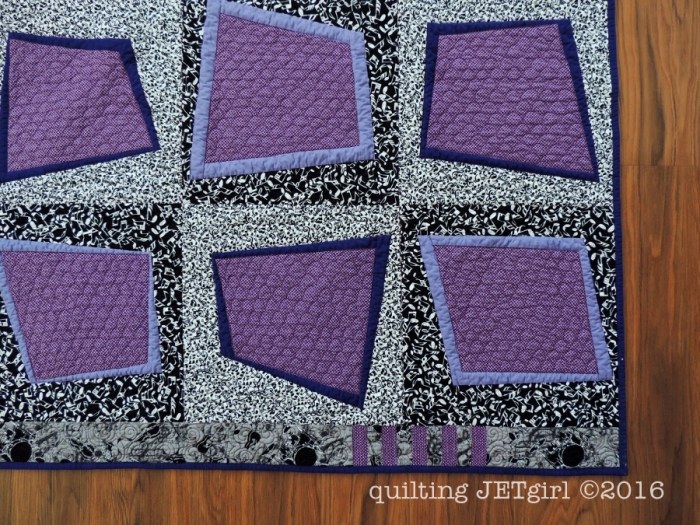Rockabilly Baby Quilt - Quilting Detail