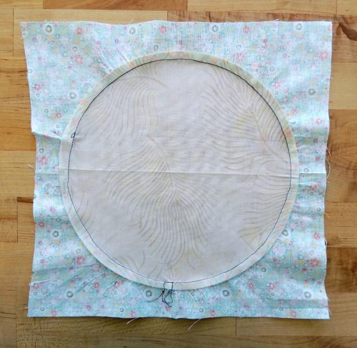 Sewing Full Circles: Press Seam Toward Background Fabric
