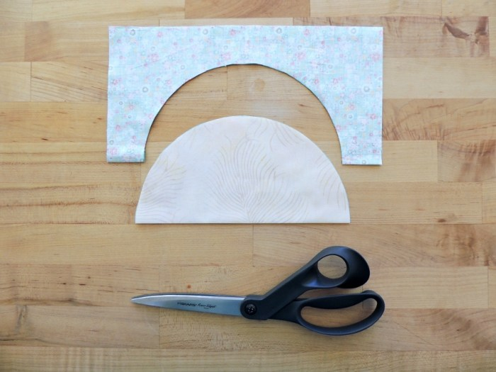 Sewing Full Circles: Cut Along Marked Line