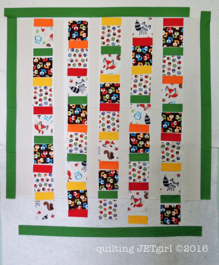 Woodland Animals Baby Quilt - Layout