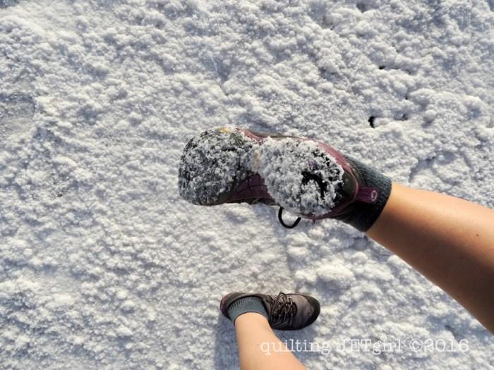 Sunburst Photoshoot Outtake: Lots of Salt on my Shoes!
