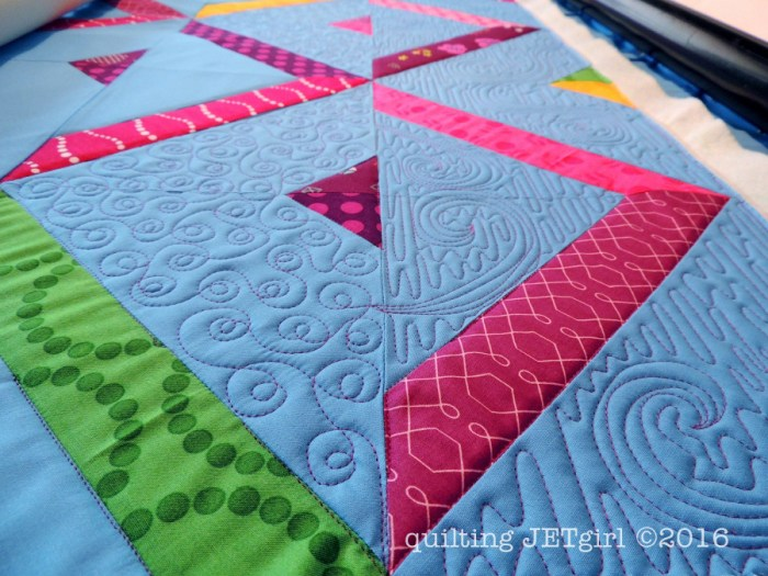 High Road Low Road - Start of Quilting