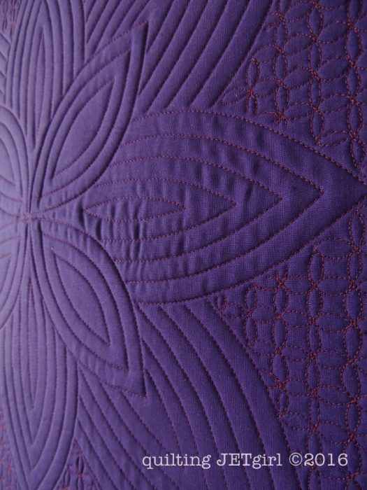 Purple Passion - Quilting Detail