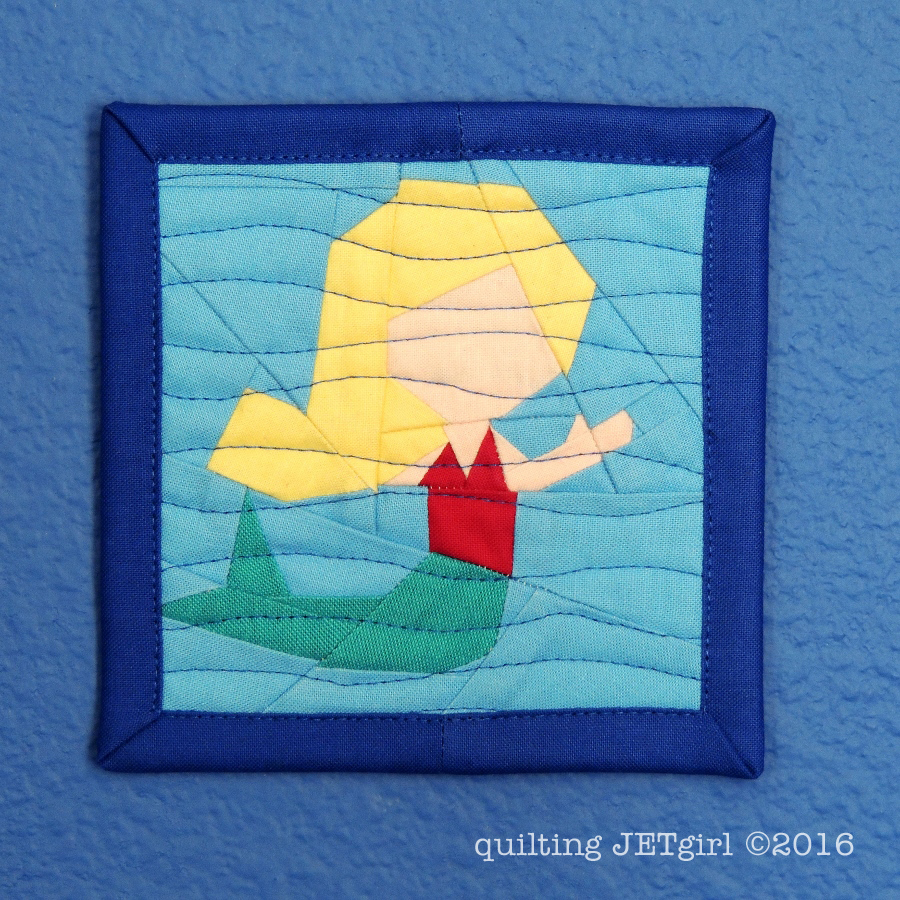 Teeny Tiny Mermaid Mini Mini Quilt