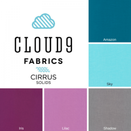 2016 Cloud9 Cirrus Solids New Block Blog Hop Color Palette - Berry Harvest Palette