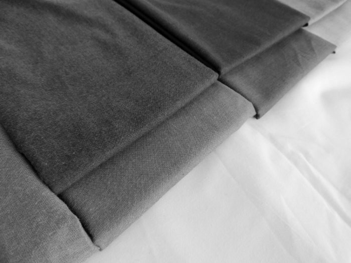 Meadow Mystery Quilt - Fabric Selection in Black and White