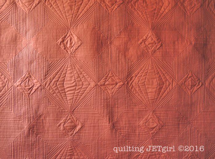 Starlight Crystals - Back of Quilt