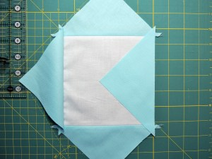 Square in a Square Tutorial - Placing Fourth Triangle