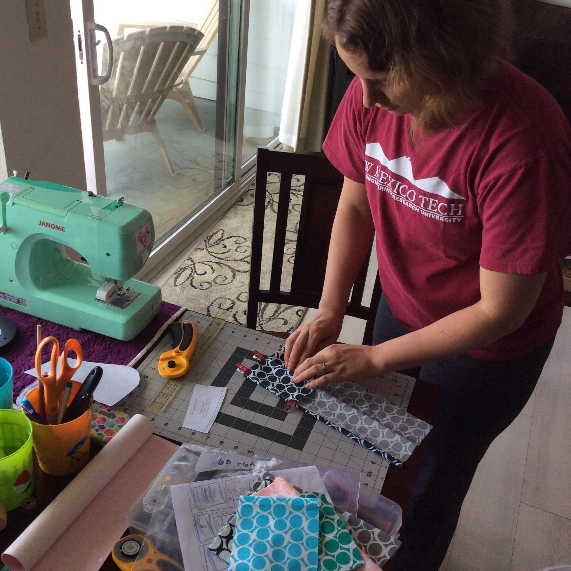 Renee Working on the #QMChallenge