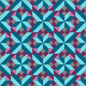 Berry Crossing Quilt Layout - Colorway 1