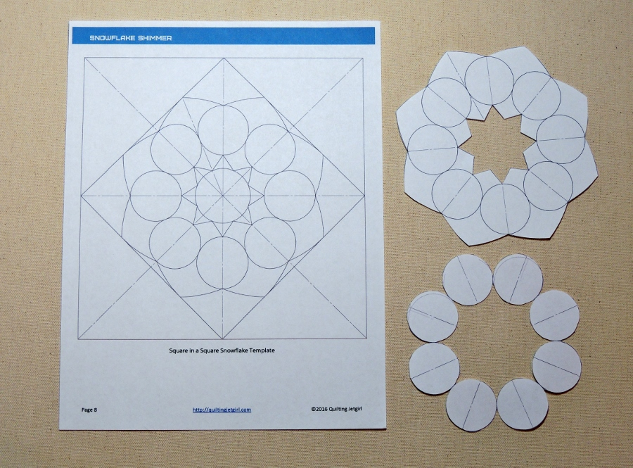 Using the Snowflake Shimmer Quilting Template – Quilting Jetgirl