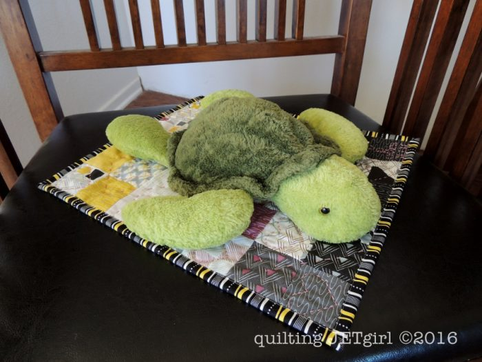 Squirtle the Turtle with Doll Quilt