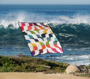 It Comes in Waves Mini Quilt