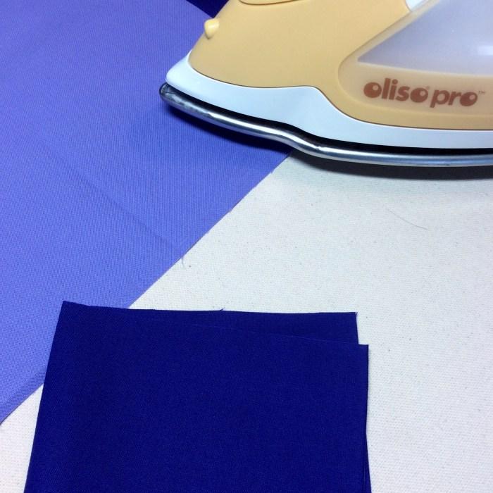 Piecing On Point Blocks - Pressing