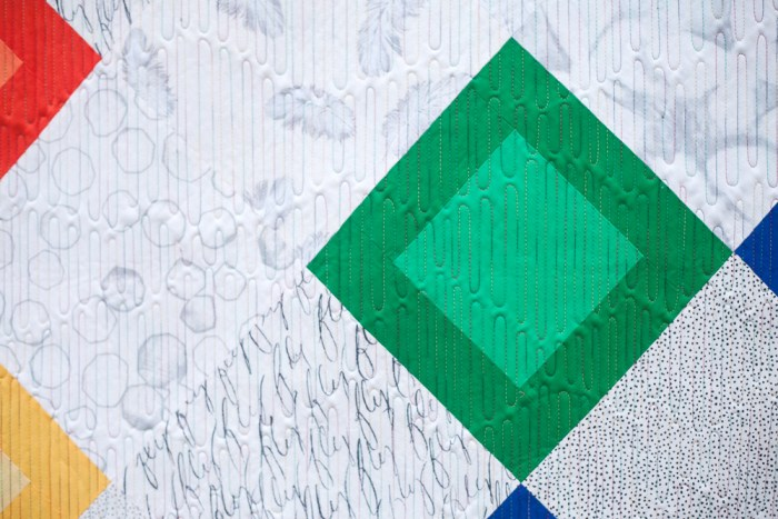 Layered Diamonds - Quilting Detail - Quilt Photography by Michelle Bartholomew