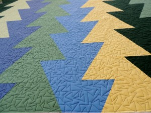 #NotMyQuilt Northern Lights (JayBird Quilts) - Quilting Detail
