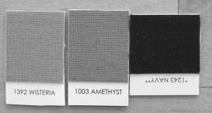 Kona Wisteria, Amethyst, Navy in Black and White