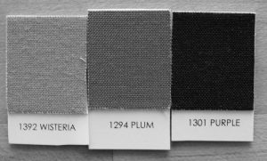 Kona Wisteria, Plum, and Purple in Black and White