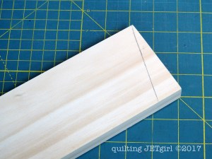 DIY Quilt Ladder - Step 3 - Measure Angles (Bottom Angle Marked)