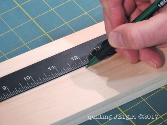 DIY Quilt Ladder - Step 5 - Mark Holes