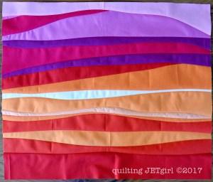 Improv Patchwork - Sunset Mini - Final Quilt Top
