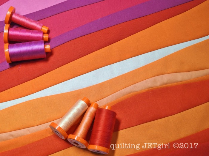 Improv Patchwork - Sunset Mini - Quilting Thread Selection