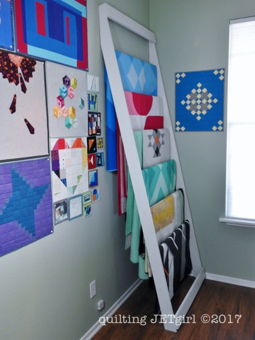 Quilt Ladder in Use
