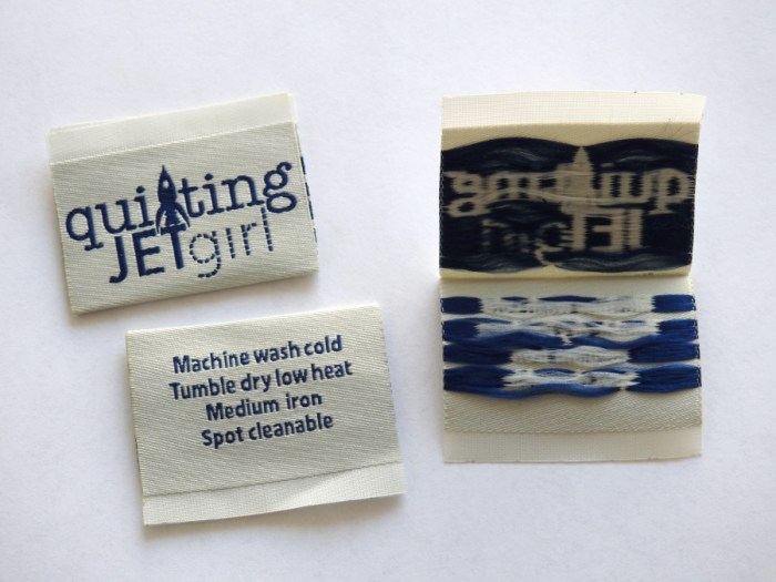 Quilting Jetgirl Dutch Label Shop Woven Labels