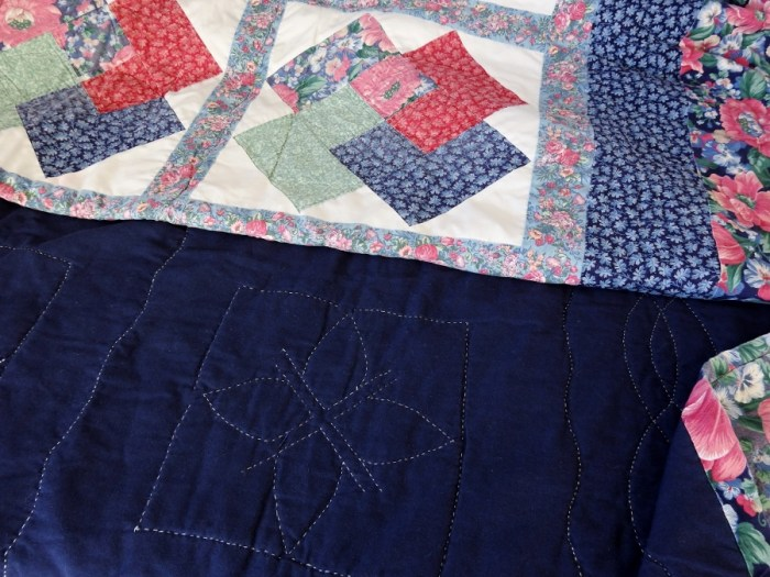 Yvonne Fuchs' First Quilt - Card Trick, Grandma's Hand Quilting, Chunky Binding