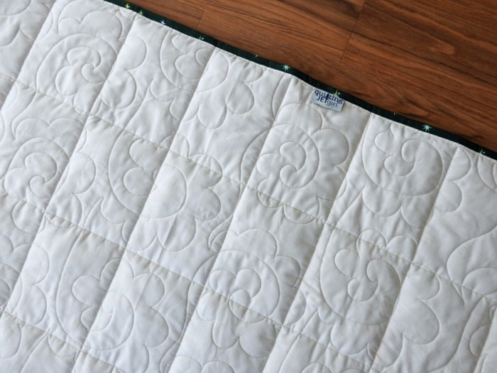 Weighted Quilt - Finish Details