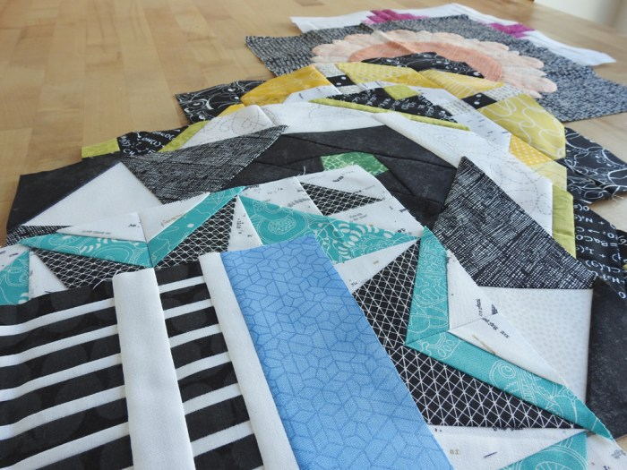 Aurifil BOM Blocks Through July