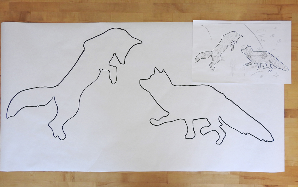 Fox Wholecloth Quilt - Planning Progress