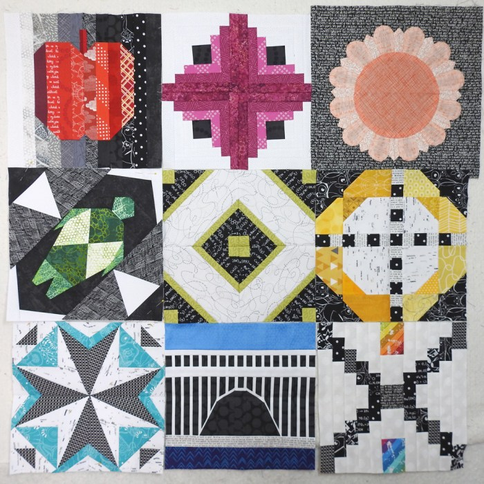 2018 Aurifil BOM Blocks Through September