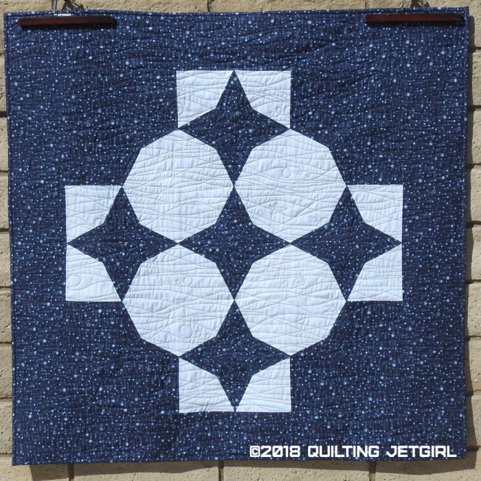 Combinatorics: Paper Airplanes and Stars - Quilt Backing