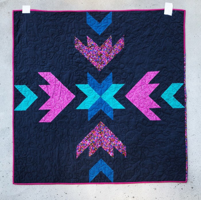 Flight Path Baby Quilt - Quilt and Photography by Katie Blakesley