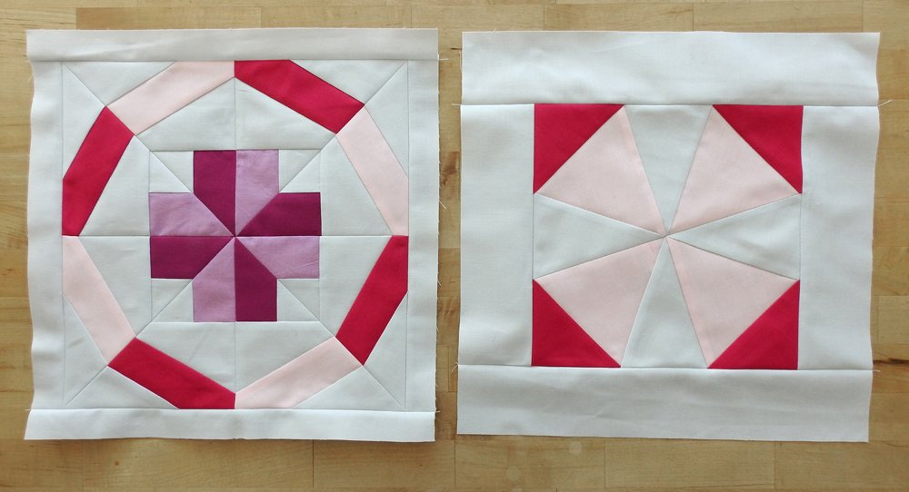 Modern Plus Sampler Paper Pieced Areas