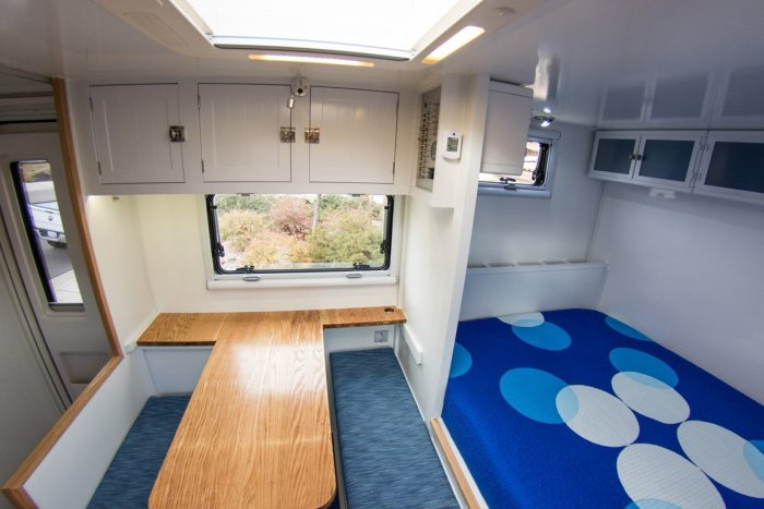 Wabi-Sabi Overland - Dinette (Sewing Space) and Bubbly