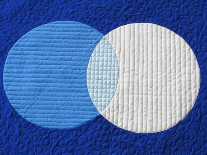 Outline Quilting - Both Circled Outline Quilted