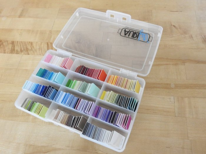 Re-Purposing Aurifil Thread Boxes