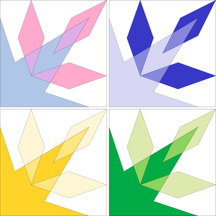 Sparkler Block: Alternate Colorways
