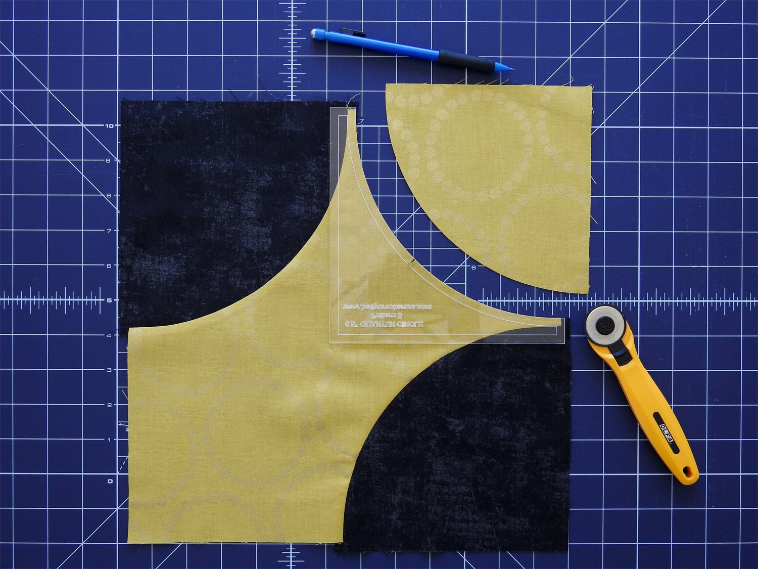 Cut Third Curve in Star Fabric