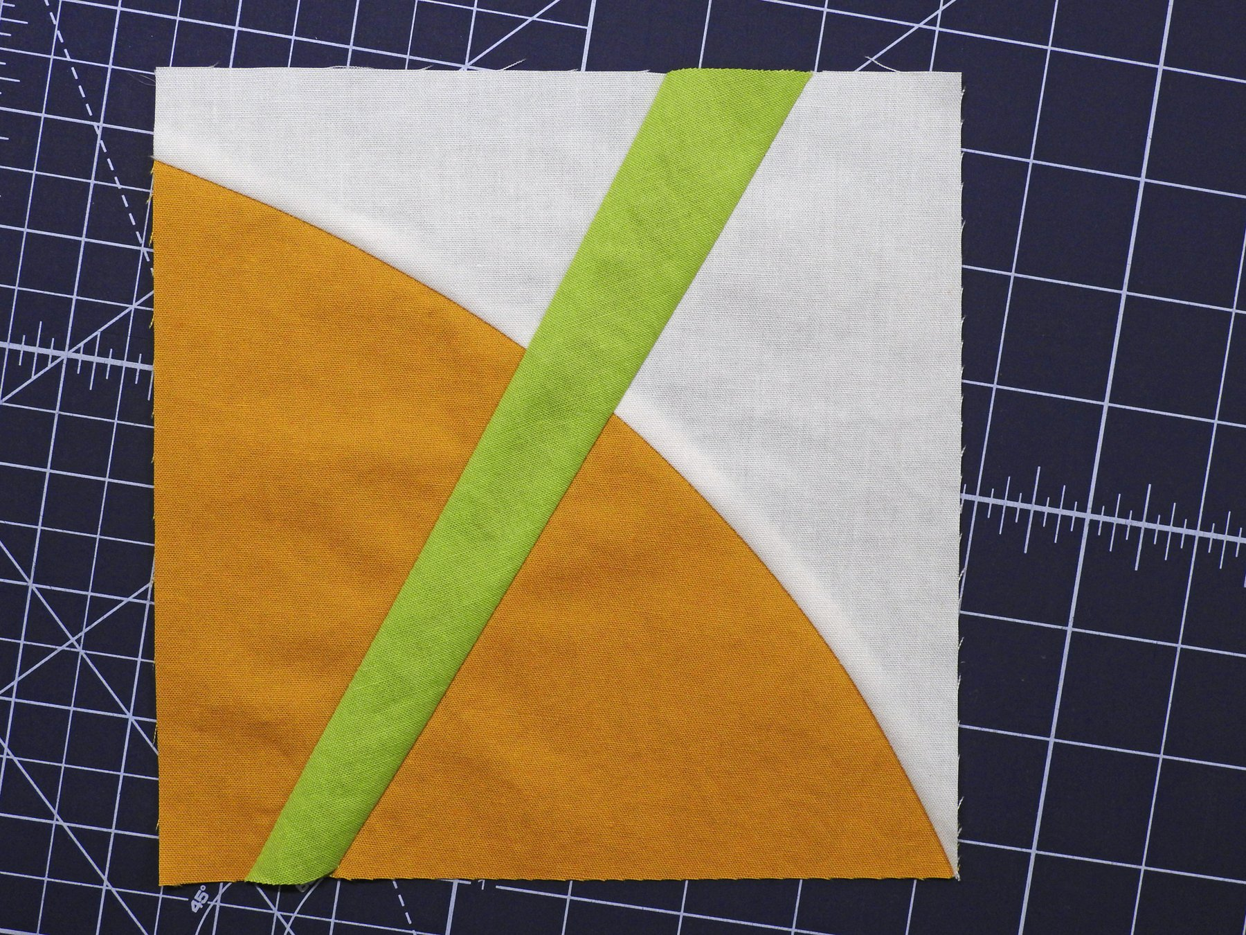Group Quilt Block 4 - Improv Curve and Inset Line