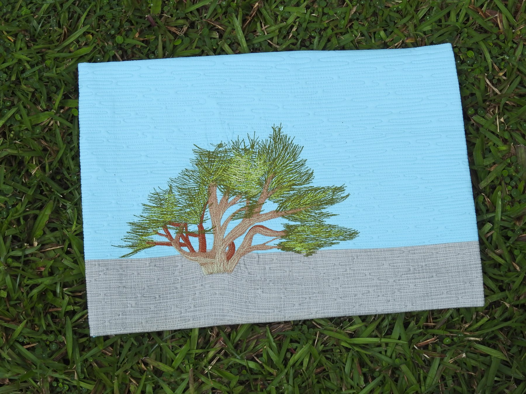 Pacific Grove Tree - Thread Painting Workshop Sample